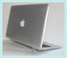 Clear hard shell case for MacBook Air