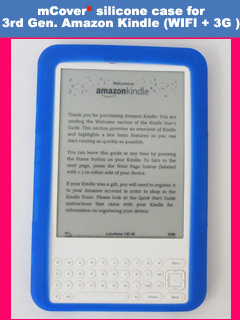blue silicone case for Amazon Kindle 3 ( WIFI & 3G ) 6-inch reader