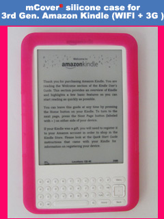 pink silicone case for Amazon Kindle 3 ( WIFI & 3G ) 6-inch reader