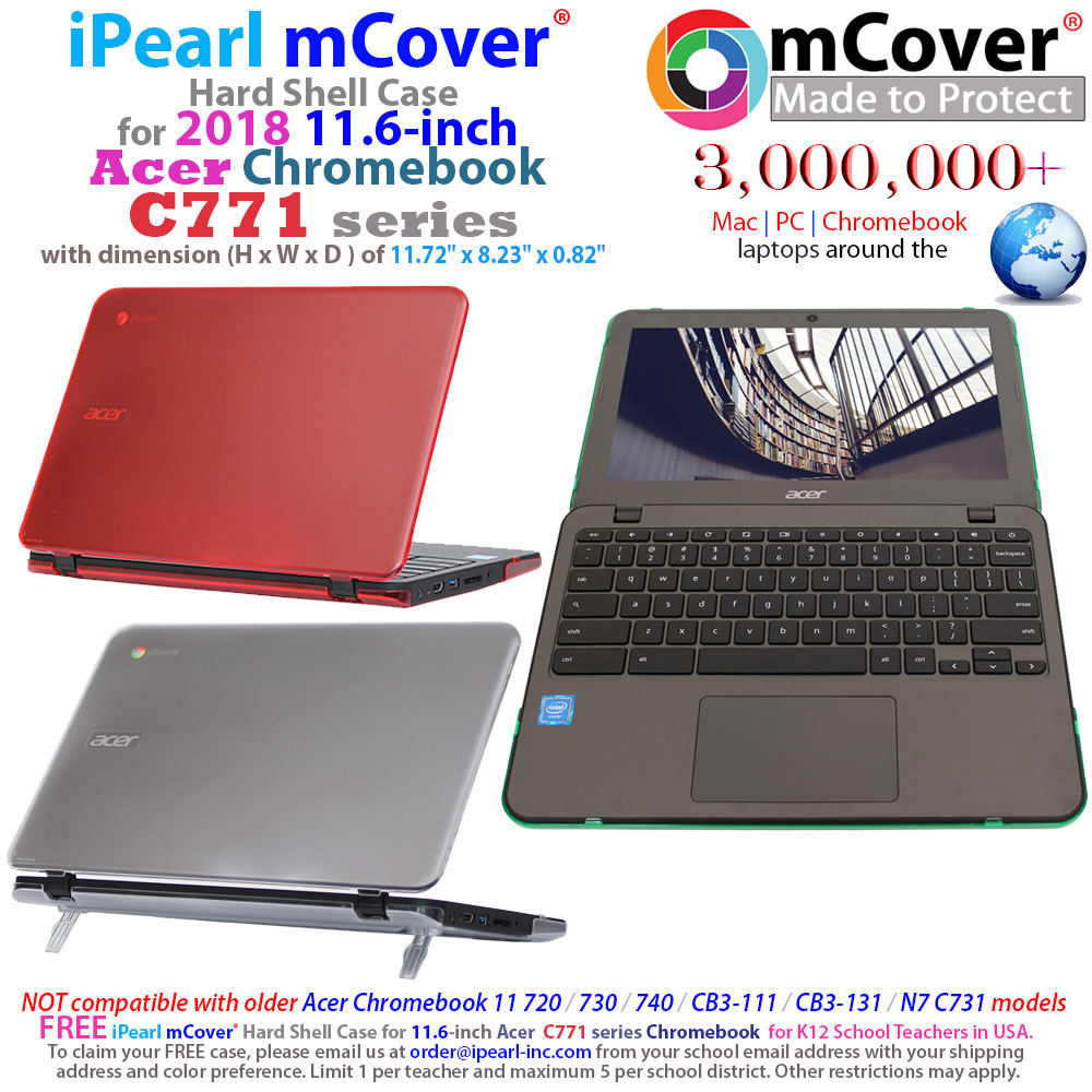 mCover Hard Shell case for Acer Chromebook 11 C771 series chromebook