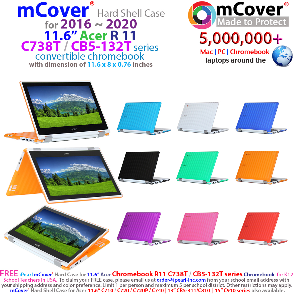 mCover Hard Shell case  				for Acer Chromebook R11 CB5-132T series  				chromebook