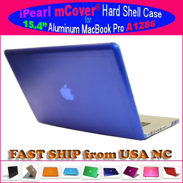 BLUE hard shell case  			for MacBook Pro