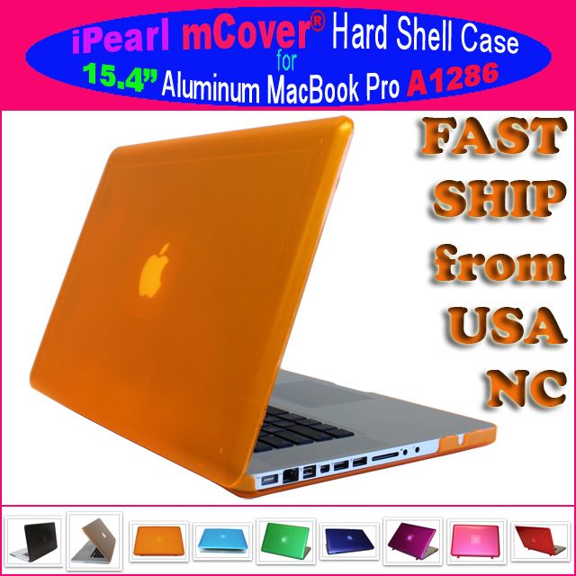 ORANGE hard shell case  			for MacBook Pro