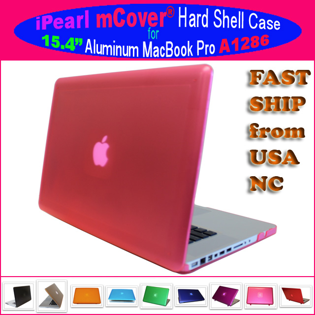 PINK hard shell case  			for MacBook Pro