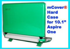 GREEN hard case for Acer Aspire One  			10.1-inch Netbook