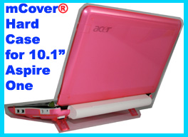 PINK hard shell case for Acer Aspire One  			10.1-inch Netbook