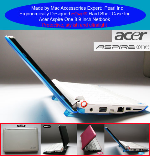 Aqua hard case for Acer Aspire One                         8.9-inc Netbook