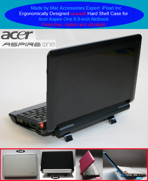 Black hard case for Acer Aspire One  			8.9-inc Netbook