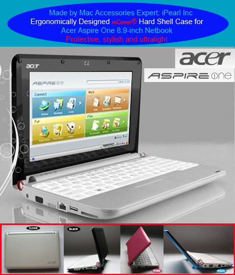 Clear hard case for Acer Aspire One  			8.9-inc Netbook