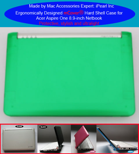 GREEN hard case for Acer Aspire One                         8.9-inc Netbook