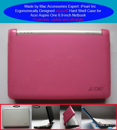 PINK hard shell case for Acer Aspire One                         8.9-inc Netbook