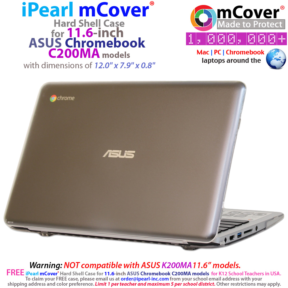 iPearl mCover® Hard shell case for ASUS Chromebook C200MA
