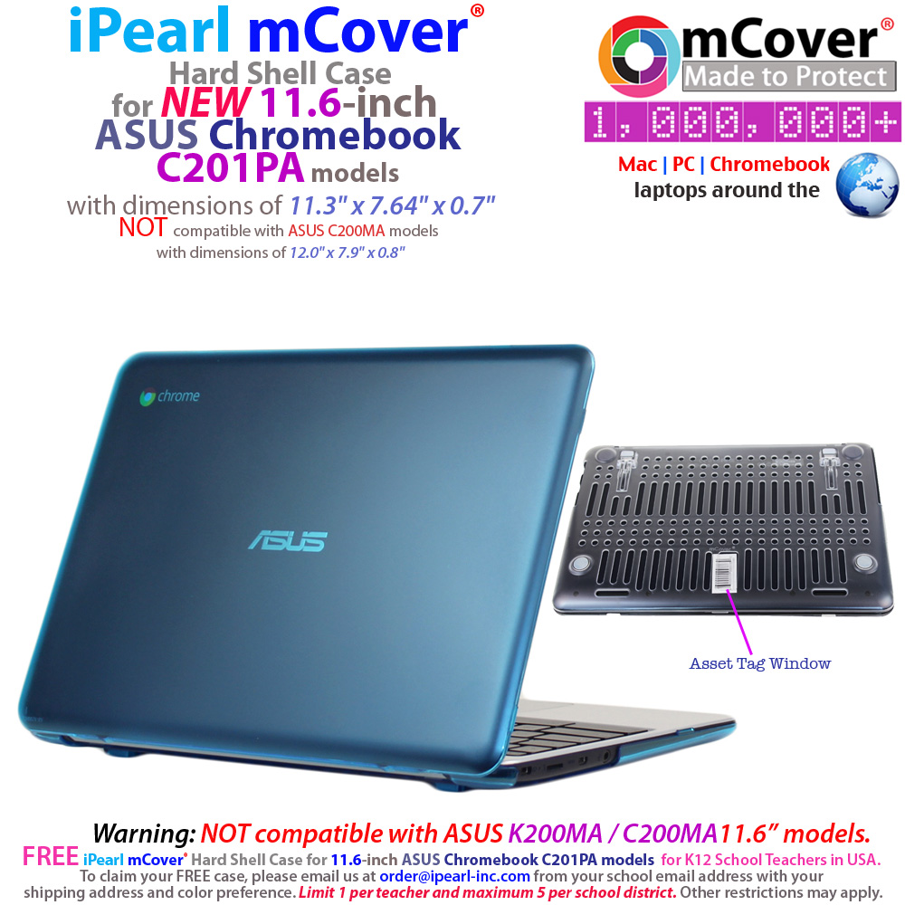mCover Hard Shell case for ASUS  				C201PA serirs Chromebook 11.6""