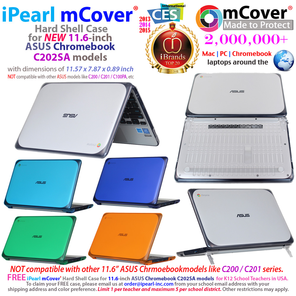 mCover Hard Shell case for ASUS                               C202SA serirs Chromebook 11.6""