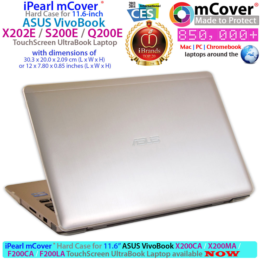 mCover Hard Shell case for ASUS                             Vivobook X202 series Ultrabook