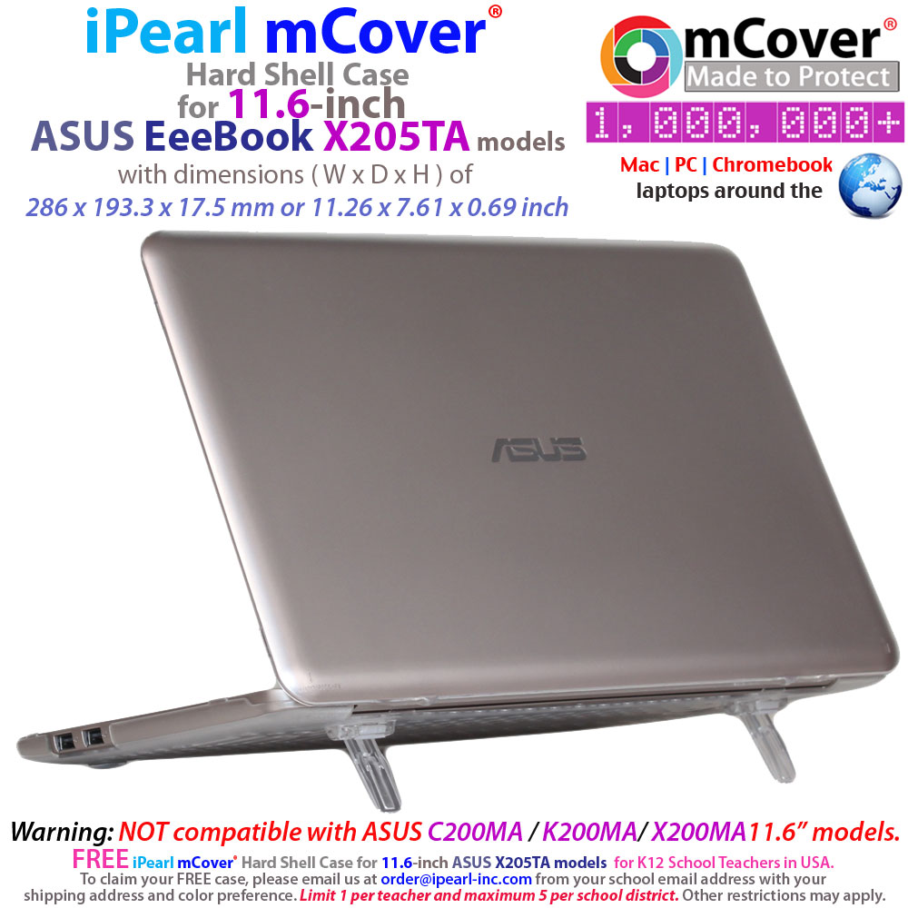 mCover Hard Shell case for ASUS  				EeeBook X205TA serirs 11.6""