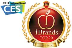 CES 2013 iBrand Top 20