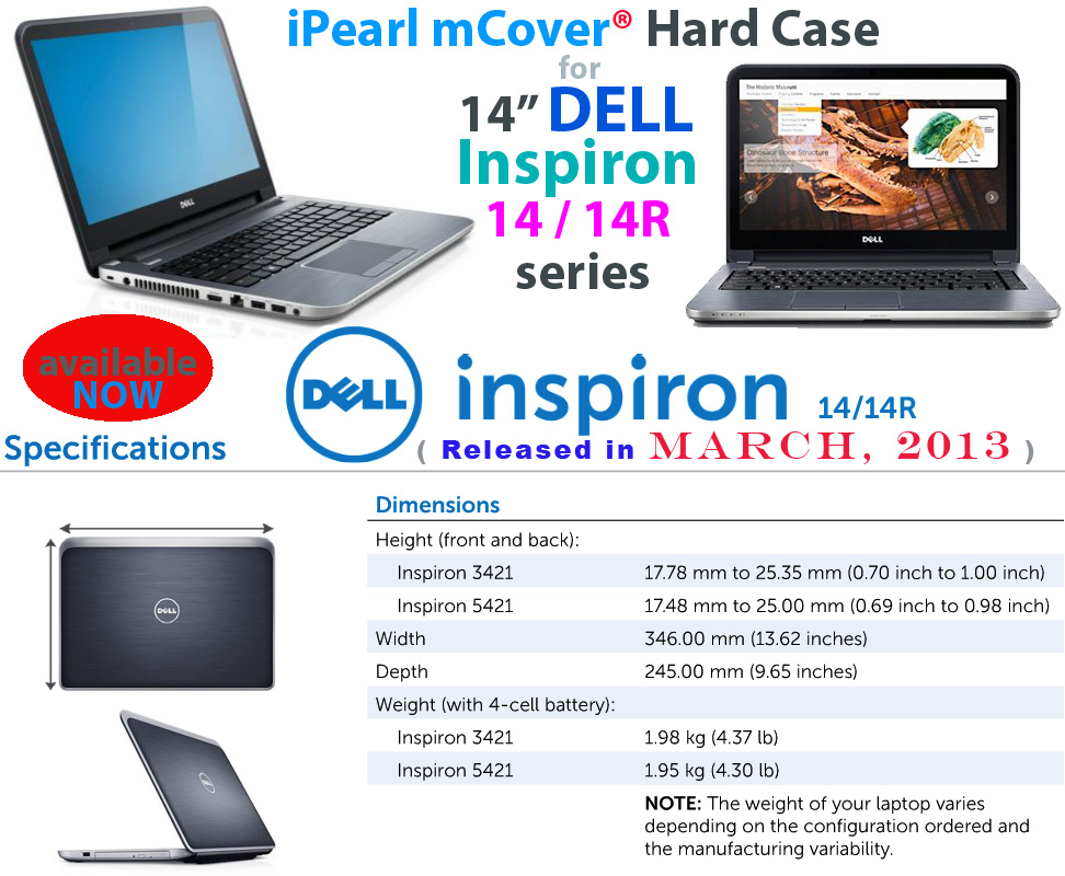mCover for Dell Inspiron 14 / 14R