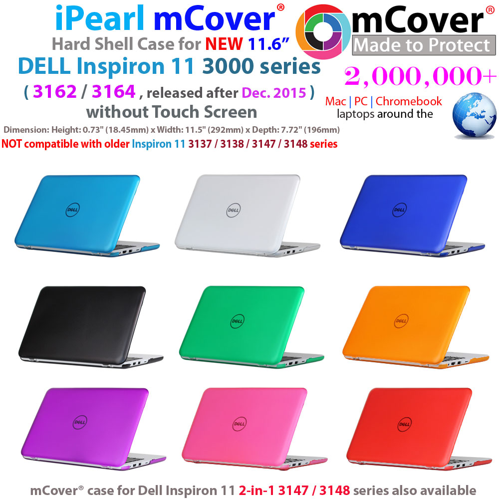 "mCover Hard  				Shell case for 11.6"" Dell Inspiron 11  				3162 3164 series with Touch Screen"