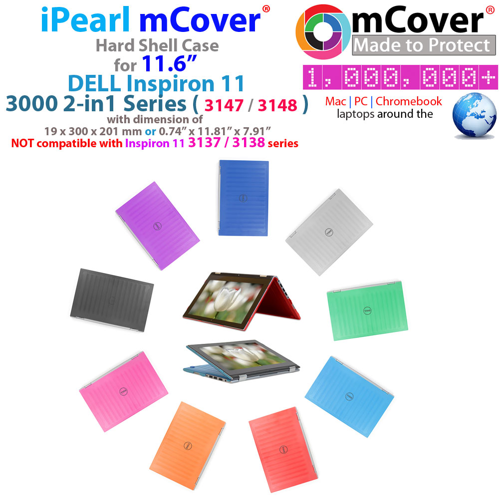 """mCover Hard Shell  case for 11.6"""" Dell Inspiron 11 3000  series with Touch Screen"""