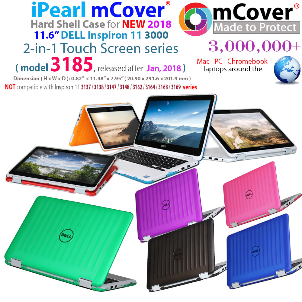 "mCover Hard Shell case for 	new 2018 11.6"" Dell Inspiron 11 3185 series laptop with Touch Screen"