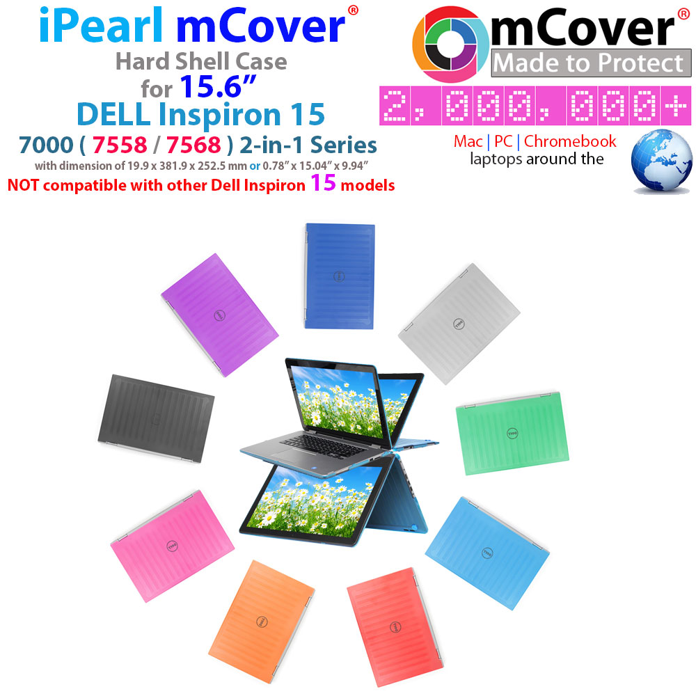 "mCover Hard  				Shell case for 15.6"" Dell Inspiron 15  				7558 7568 series with Touch Screen"