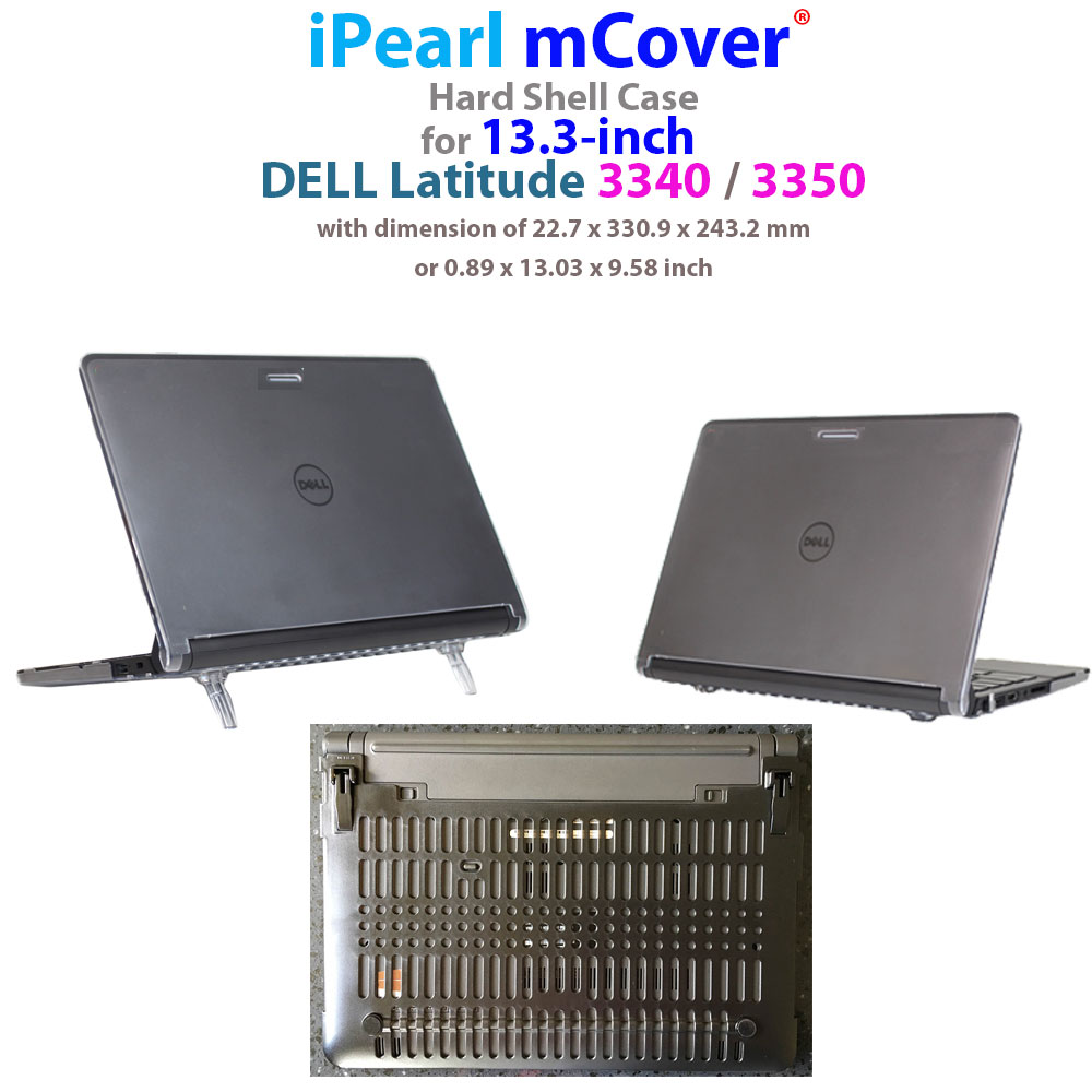 "mCover Hard Shell case for  				Dell Latitude 3340 13.3"" series  				laptop"