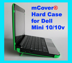 GREEN hard case for Dell Mini 10                         10.1-inch Netbook