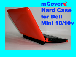 RED hard case for Dell Mini 10 10.1-inch                         Netbook