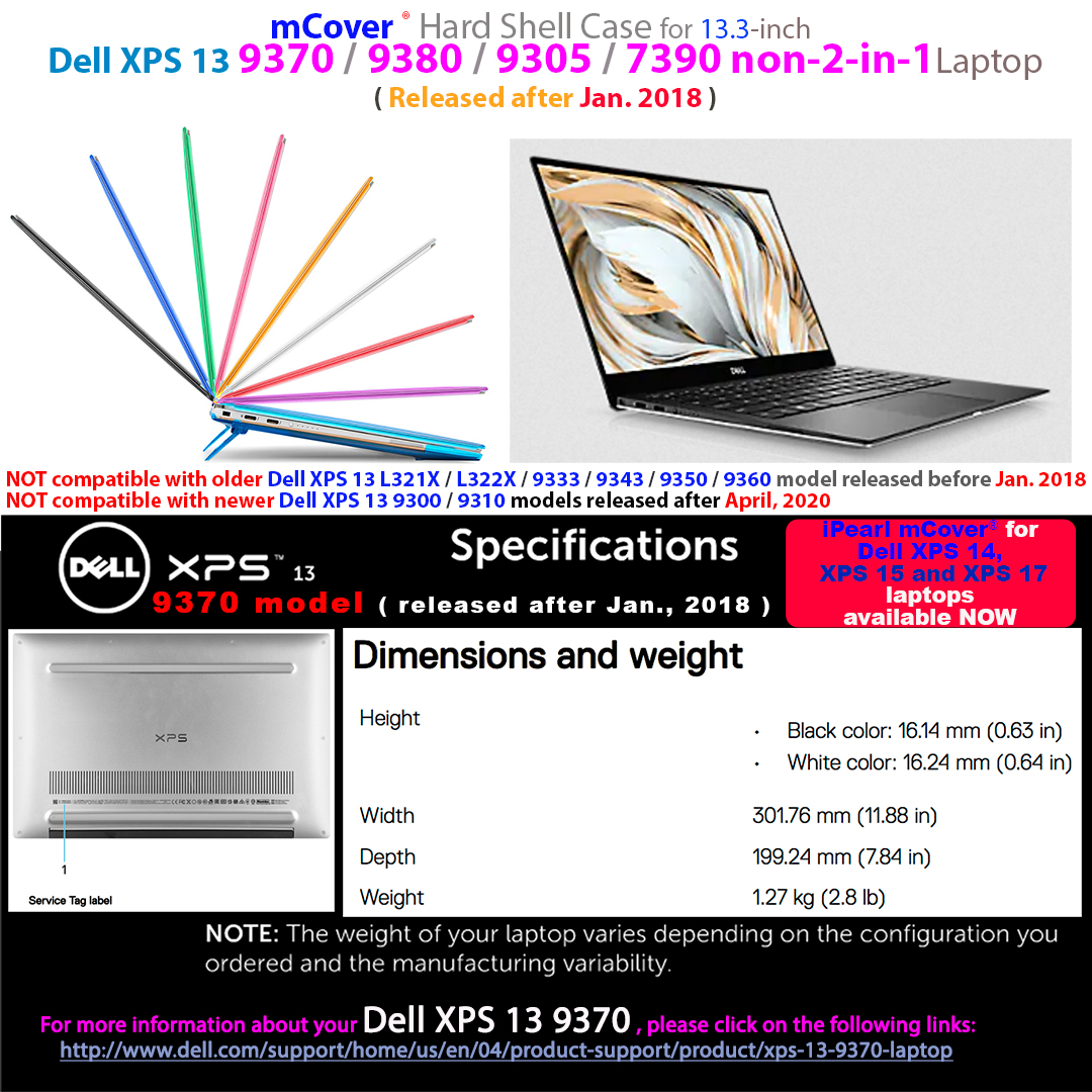 mCover for Dell XPS 13 9370