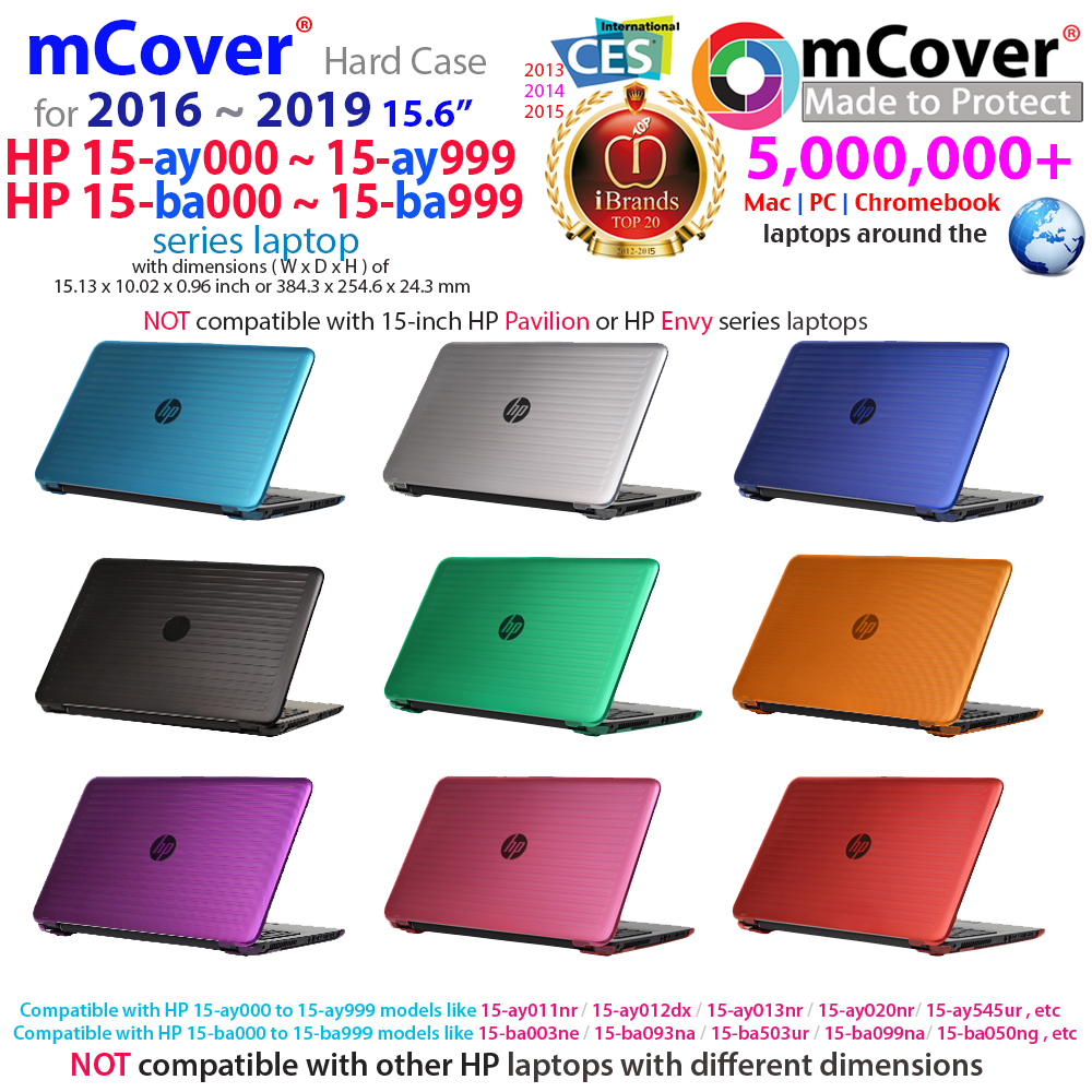 "mCover  				Hard Shell case for 15.6"" HP 15-ay000  				series"