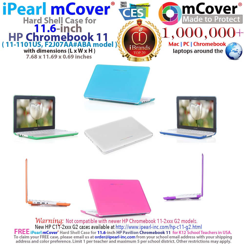 mCover                               Hard Shell case for HP Chromebook 11                               11.6""