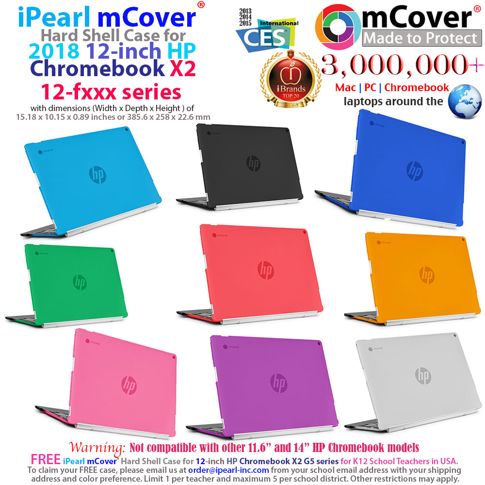 mCover Hard Shell case for HP Chromebook X2 12-f000 series