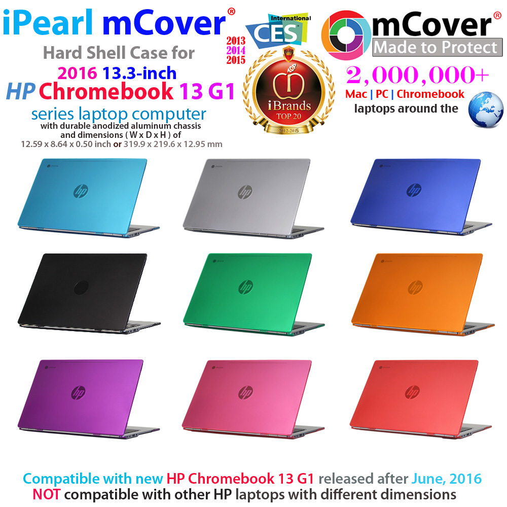"mCover Hard Shell case for HP  				Chromebook 13 G1 13.3"" laptop"
