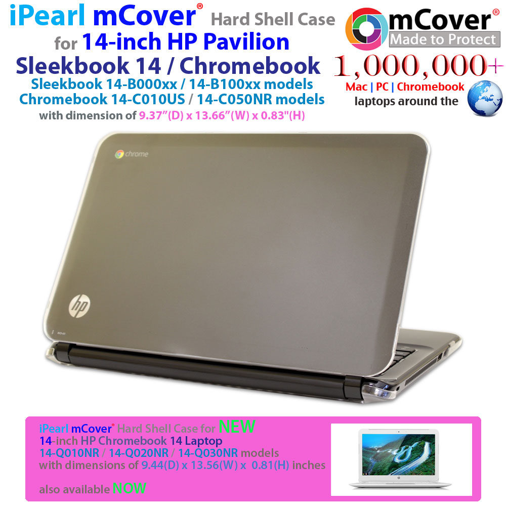 Ipearl Mcover Hard Shell Case For 14 Inch Hp Pavilion Sleekbook Bxxx Chromebook Cxxx Series Laptops