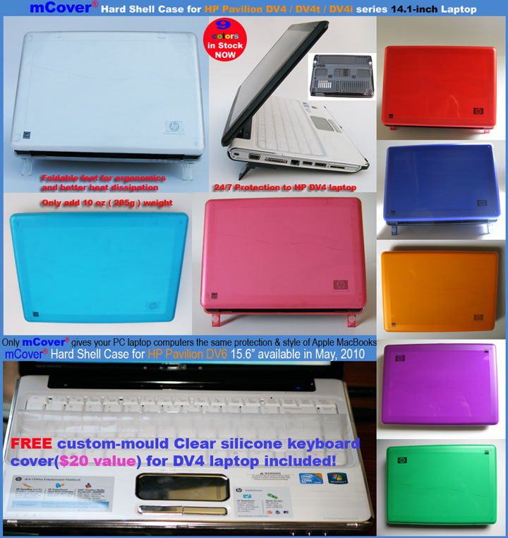 mCover  						for HP Pavilion DV4 series Hard  						Shell Case