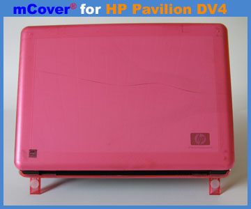 Pink hard case for HP Pavilion  					DV4 laptop