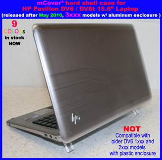 Clear hard case for HP Pavilion  					DV6 15.6