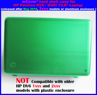 Green hard case for HP Pavilion                                 DV6 15.6
