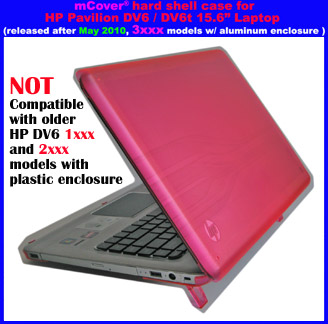 Pink hard case  					for HP Pavilion DV6 15.6