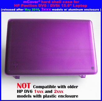 Purple hard case  					for HP Pavilion DV6 15.6