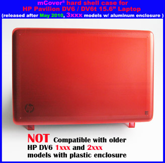 Red hard case  					for HP Pavilion DV6 15.6