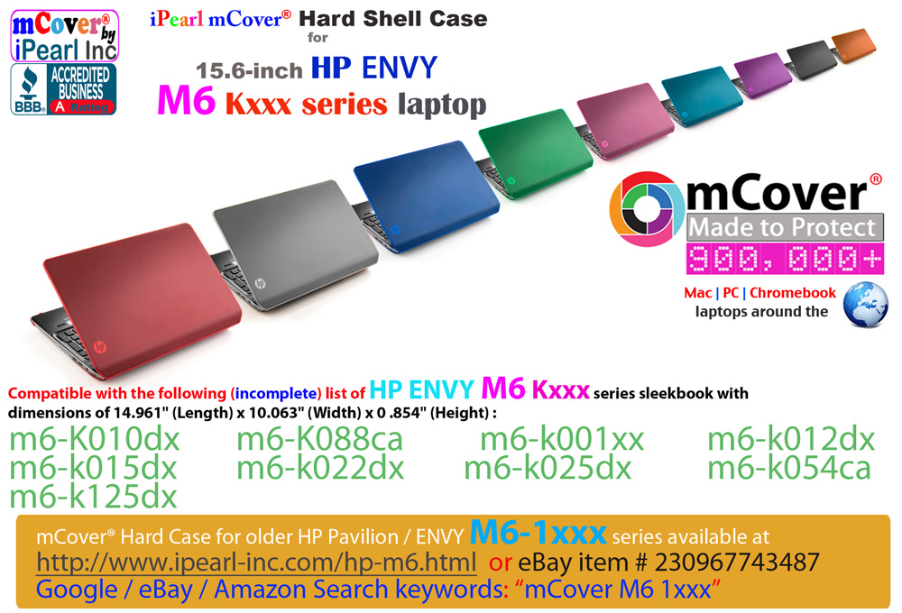 mCover for HP ENVY M6 kxxx series Hard  				Shell Case