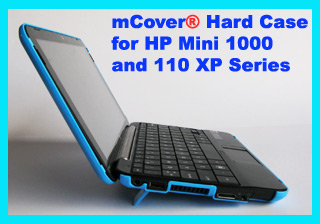 Aqua hard case for HP  Mini 1000 Netbook