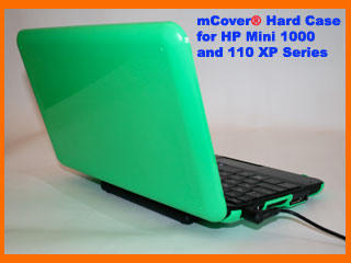 Green hard case for HP  				Mini 1000 Netbook