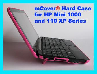 Pink hard case for HP  Mini 1000 Netbook