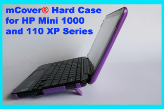 Purple  				hard case for HP Mini 1000 Netbook