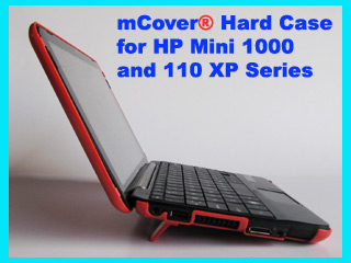 RED hard case for HP Mini 1000 Netbook