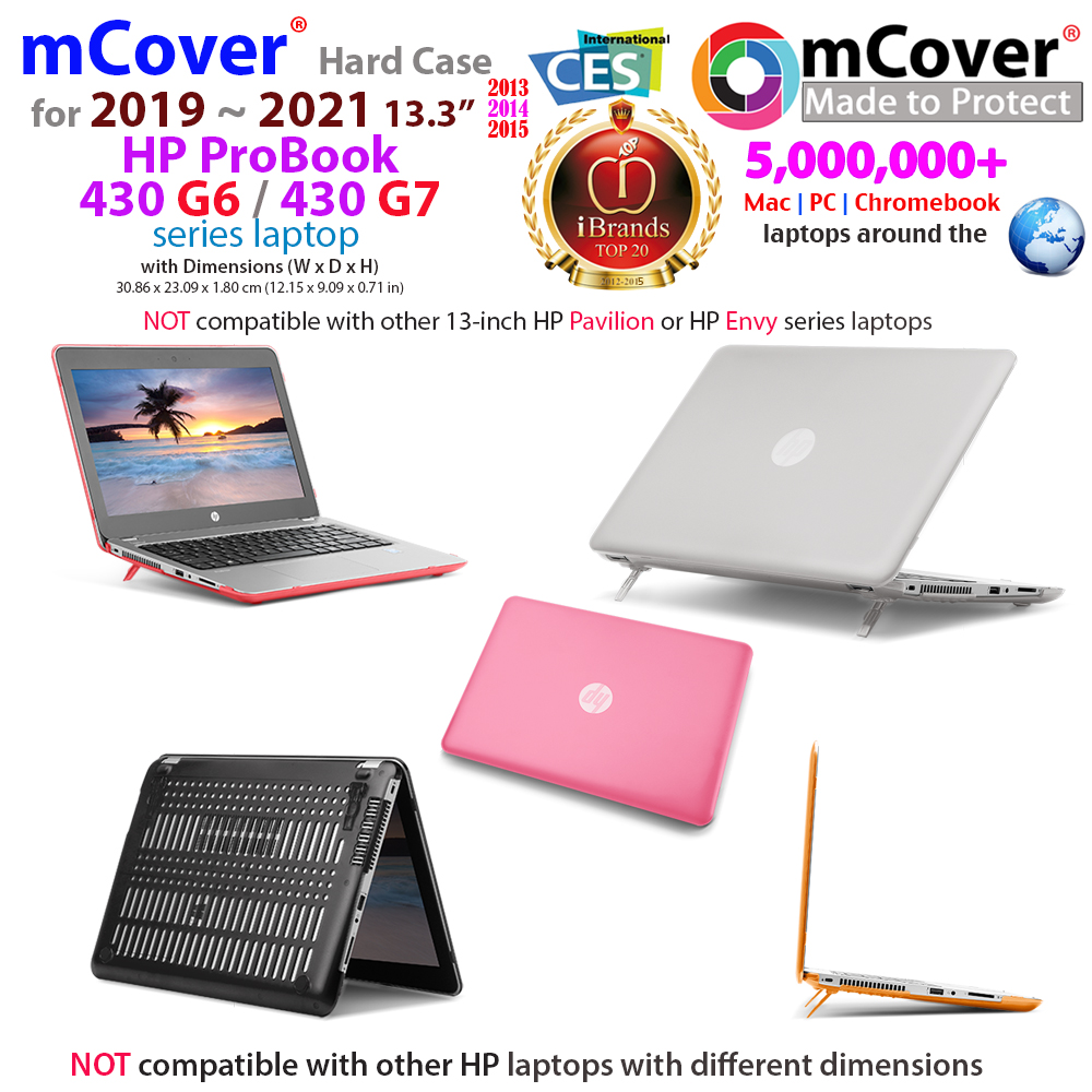 mCover Hard Shell case for 13.3-inch HP ProBook 430 G6 series