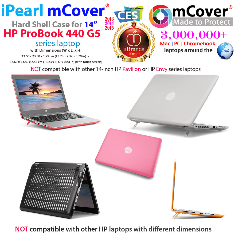 mCover Hard Shell case for 14-inch HP ProBook 440 G5 series